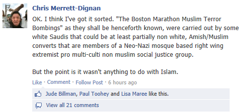 Chris Merrett - Blaming Muslims