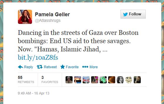 Pam Geller - Palestinian Celebrate